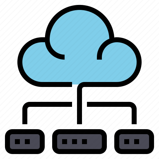 cloud, connection, data, internet, network, software, software and network icon