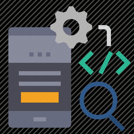 app, coding, device, mobile, mobile optimization, optimization, responsive mobile icon