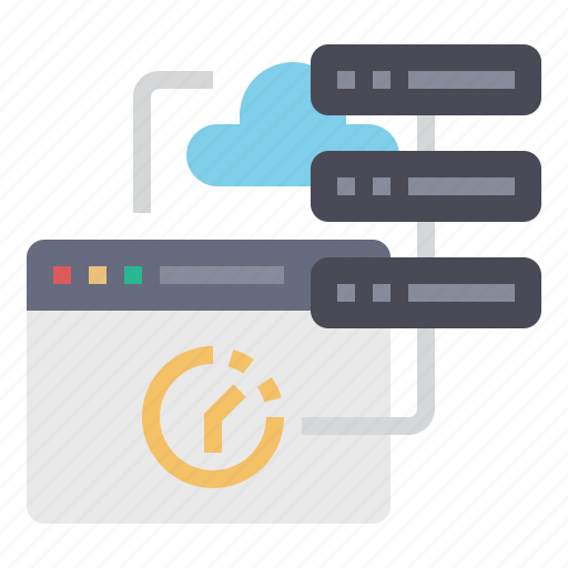 cloud, data, database, page load, server, storage, website icon