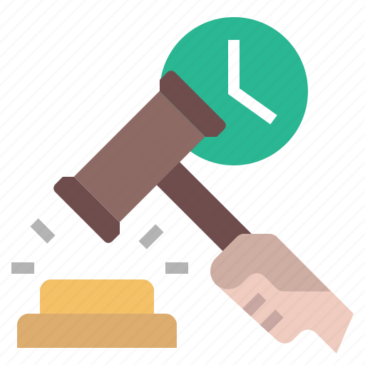 auction, bid, bidding, hammer, justice, law, real time bidding icon