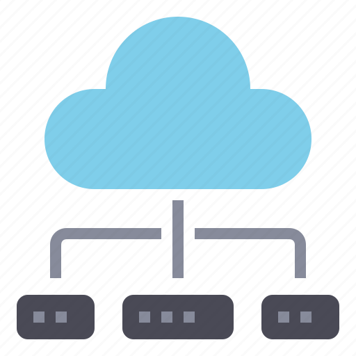 cloud, connection, database, internet, network, software, software and network icon