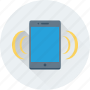 mobile phone, mobile ringing, mobile signals, mobile volume, smartphone icon