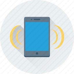mobile phone, mobile ringing, mobile signals, mobile volume, smartphone icon