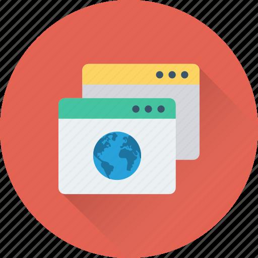 browser, globe, internet, online, webpage icon