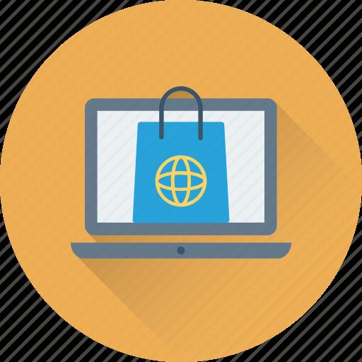 e commerce, e shop, online shopping, shopper bag, shopping bag icon