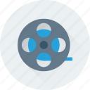 camera reel, film reel, image reel, movie reel, reel icon
