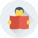 book, learner, learning, student, study icon