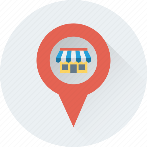 gps, location, market location, navigation, store location icon