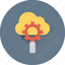 cloud computing, cloud settings, gear, gear wheel, settings icon