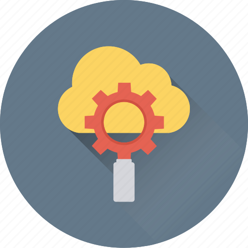 cloud computing, cloud settings, gear, gear wheel, settings icon