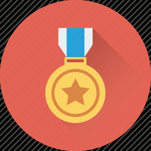 award, award medal, gold medal, medal, star medal icon