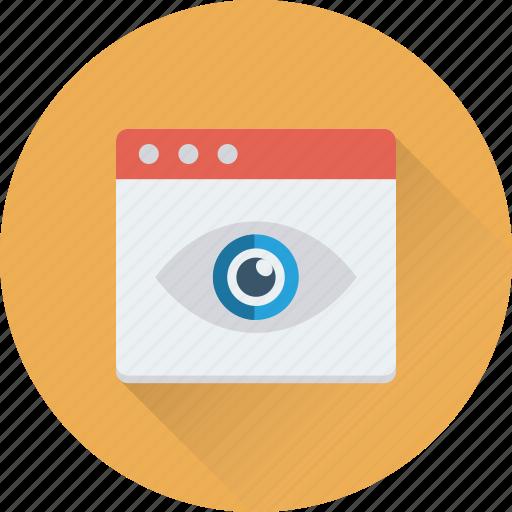 look, monitoring, view, visibility, visual icon