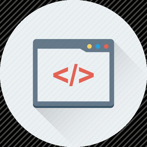 div, div coding, html, html coding, web development icon
