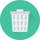 delete, dust bin, garbage can, garbage pail, trash bin icon