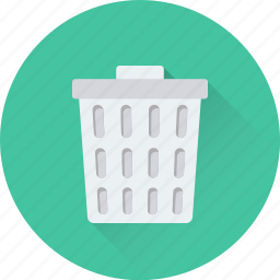 delete, dust bin, garbage can, garbage pail, trash bin icon