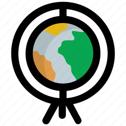 earth, globe, map, table globe, world map icon