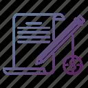 articles, blog, digital marketing, paid, write icon