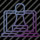 chess, digital, digital marketing, online, strategy icon