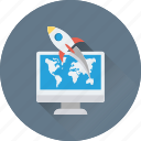 spacecraft, rocket, spaceship, web startup, missile icon