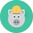 cash bank, piggy bank, cash box, money bank, money box icon