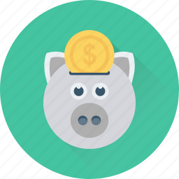 cash bank, cash box, money bank, money box, piggy bank icon