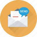 message, sending email, envelope, email, inbox icon