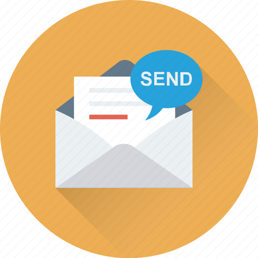 email, envelope, inbox, message, sending email icon