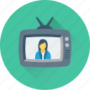 transmission, tv, television, broadcasting, tv set icon