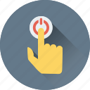 finger gesture, press finger, pointing finger, click, finger icon