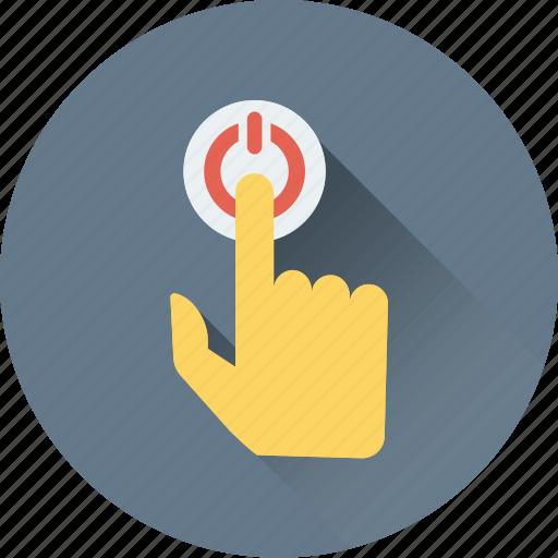 click, finger, finger gesture, pointing finger, press finger icon