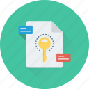 document, encryption, file access, file security, protected file icon
