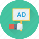 billboard, marketing, signboard, ad, advertisement icon