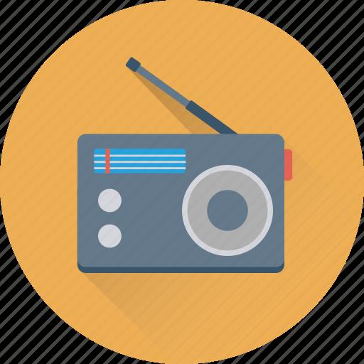 old radio, radio, radio antenna, radio set, transmission icon