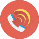 receiver, call, telecommunication, call ringing, phone receiver icon