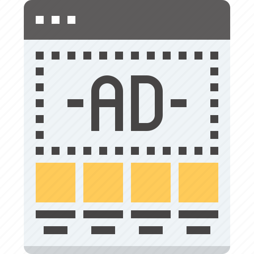 ad, banner, landing, marketing, page, template, web icon