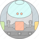 android, app development, apps, automate, conveyor, robot, working icon