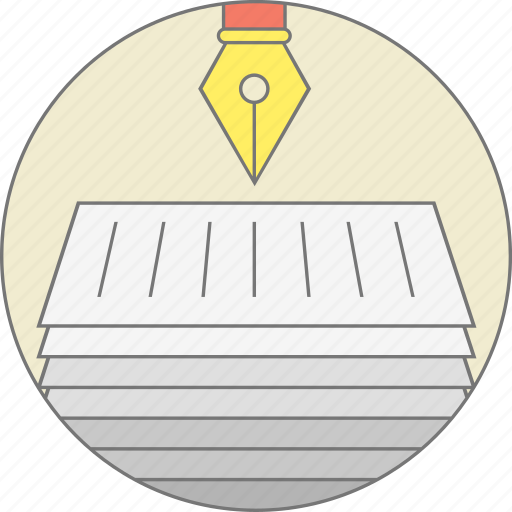 copy, copyright, documents, legal, pen, sign documents, stroke icon