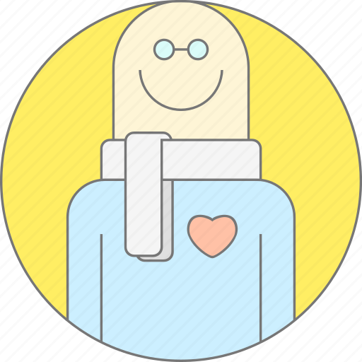 cliend feedback, clients, happy, heart, love, support manager, user icon