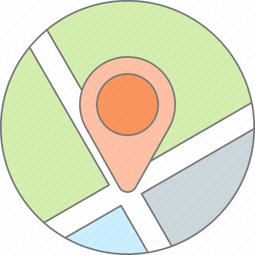 direction, geo, location, map, mark, pin, road icon
