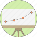 board, chart, diagram, graph, growth, presentation, report icon