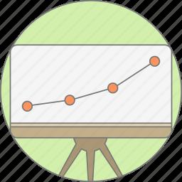 board, chart, diagram, graph, growth, presentation, report icon