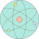 atom, physics, process, science icon