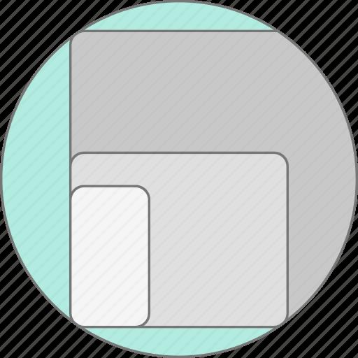 adaptive, desktop, devices, mobile, phone, responsive design, tablet icon