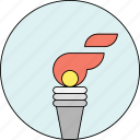 energy, fire, olympic games, olympics, sports, startup, torch icon