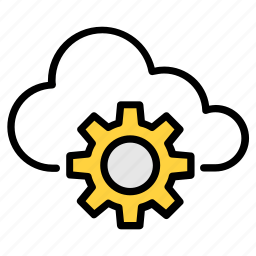 admin, cloud, connection, database, digital, gears, setting icon icon