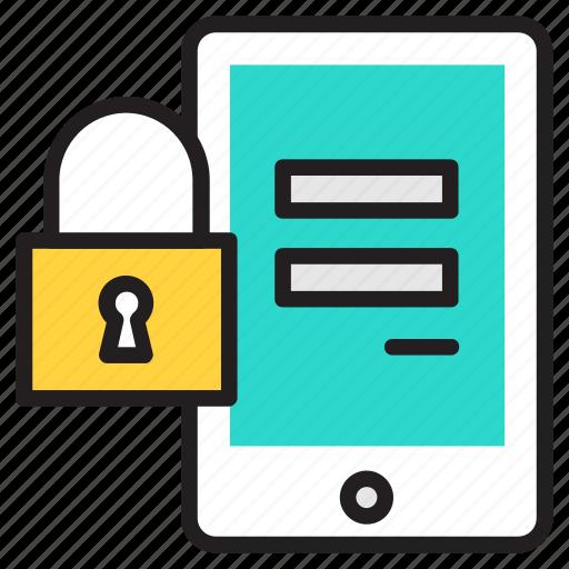 app, flat design, mobile, password, protection, safety icon icon