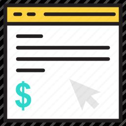 click, pay, per, ppc icon icon