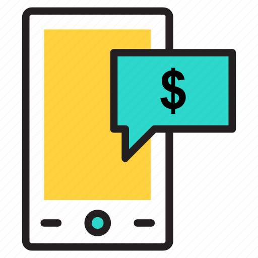 m commerce, mobile commerce, online business, online money, online work icon icon
