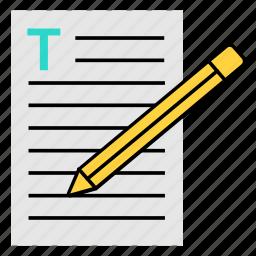 blog, blog management, blogging, create blogging, writing article icon icon