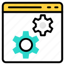 cms, gear, services, setting, web icon icon